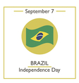 Brazil Independence Day vector image vector image