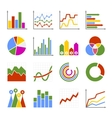 Business Graph and Diagram Icons Set vector image vector image