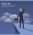 business plan growth with businessman avatar vector image vector image