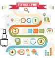 business steps development infographics vector image vector image