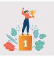 businesswoman concept winner success vector image vector image