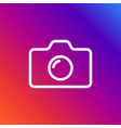 camera icon in trendy flat style isolated on vector image vector image