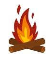 Camp fire icon flat style vector image vector image