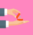 cartoon proposal marriage concept human hands vector image vector image