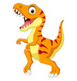 cartoon tyrannosaurus isolated vector image vector image
