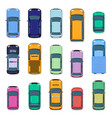 city car top view traffic cars roof street vector image
