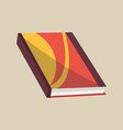 closed book colorful book icon vector image vector image