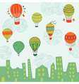 Cute Air Balloons Background vector image