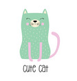 cute cartoon cat in scandinavian vector image