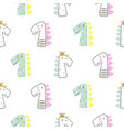 cute dinoasaur doodle style seamless pattern hand vector image vector image