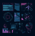 digital futuristic elements for web interface hud vector image