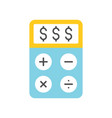 dollar sign on calculator accounting concept icon vector image vector image