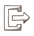 Exit symbol vector image vector image