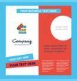 files copy company brochure template busienss vector image vector image