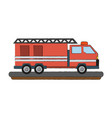 fire truck vehicle vector image