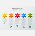 five steps infographic with puzzle pieces vector image