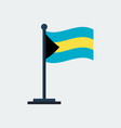 flag of bahamasflag stand vector image vector image