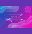 fluid style gradient geometric shapes composition vector image