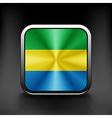 Gabon icon flag national travel icon country vector image