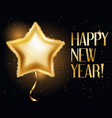 golden balloons in form of star happy new year vector image