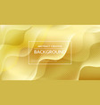 golden bright background with waves vector image vector image
