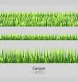 green grass set collection isolated vector image