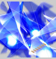 grunge blue futuristic abstract background with vector image vector image