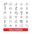 halloweencelebrationholidayhorrorpumpkin vector image