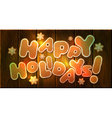 happy holidays greeting card template vector image vector image