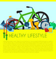 healthy lifestyle concept banner vector image