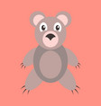 icon in flat design toy bear vector image vector image