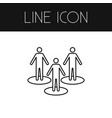 isolated people outline partner element vector image vector image