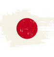 japan scratched flag vector image vector image