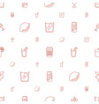 juice icons pattern seamless white background vector image vector image