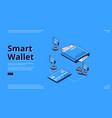 landing page smart wallet money transactions vector image