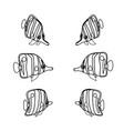 line cartoon animal clip art vector image