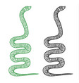 line drawing a snake in egyptian style vector image