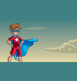 little super boy sky background vector image