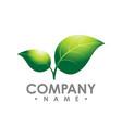 logo concept leafs logo abstract sign logo vector image vector image