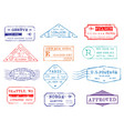 mail delivery and post office customs stamps vector image vector image