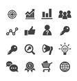 marketing icon vector image vector image