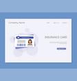 medical insurance card medical sinsurance medical vector image