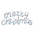 merry christmas 3d sign in christmas vector image