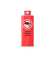 mosquito insect reppelent bottle icon bug vector image