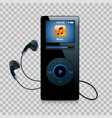 music player with headphones modern gadget vector image