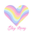 pastel rainbow heart background inspirational vector image vector image