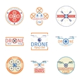 Quadrocopter badges vector image vector image