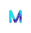 realistic paper cut letter m vector image vector image