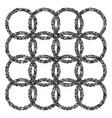 rings pattern of black particles vector image