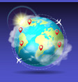round world trip vector image vector image